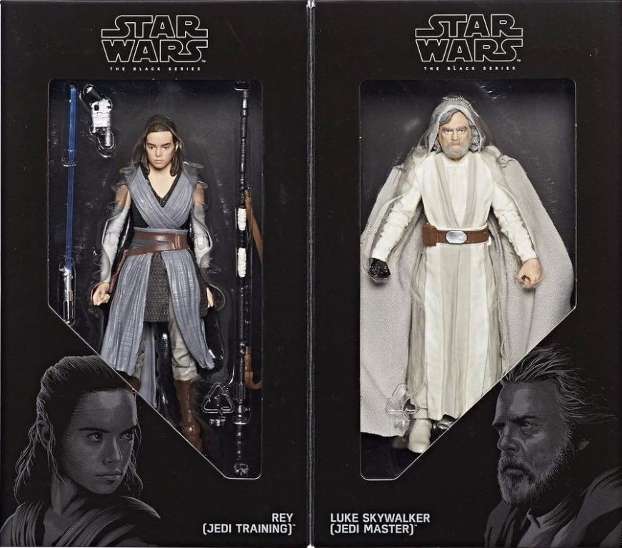 STAR WARS BLACK SERIES - REY & LUKE SKYWALKER 2-PACK SDCC 2017