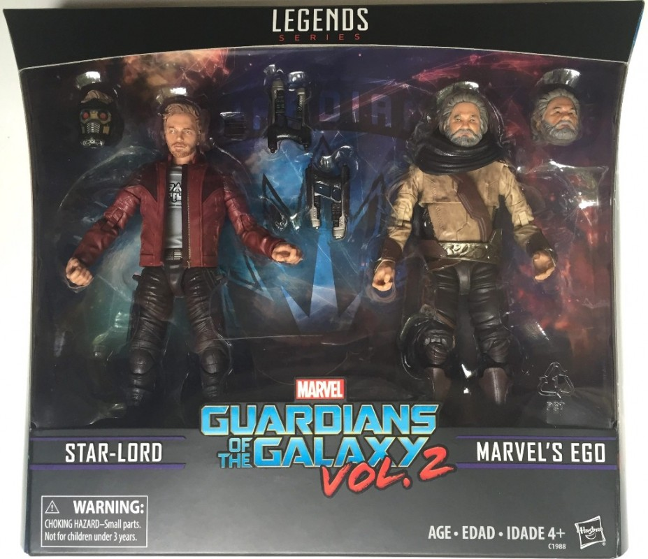 MARVEL LEGENDS - STARLORD & EGO 2-PACK GOTG VOL.2